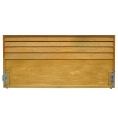 King-Size Louvered Headboard by Edward Wormley for Dunbar