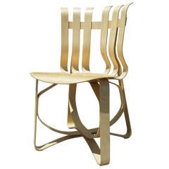 Early Hat Trick Side Chair by Frank Gehry for Knoll