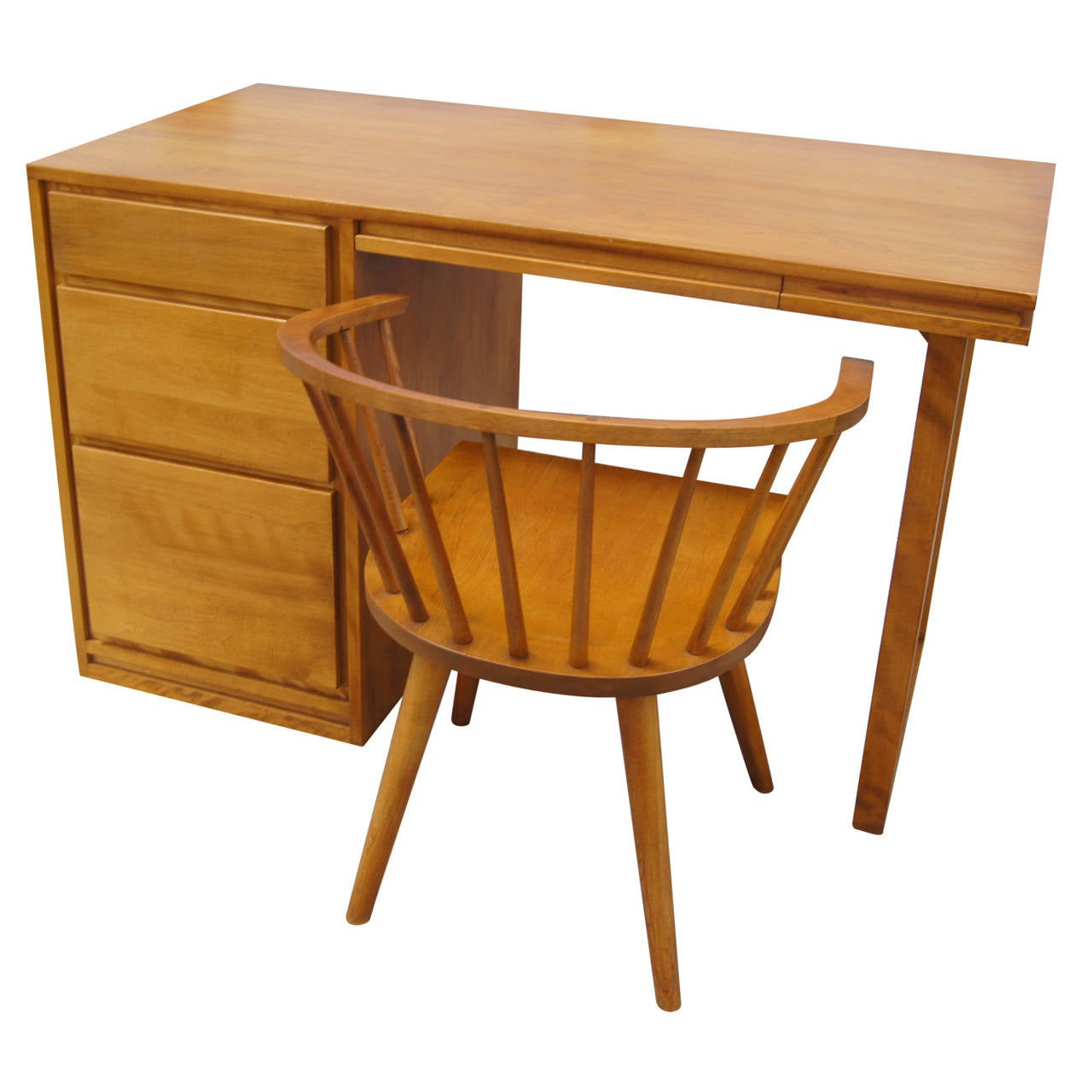 Small Desk And Chair By Russel Wright For Conant Ball At
