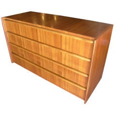 Four-Drawer Walnut Dresser by Gilbert Rohde for Herman Miller