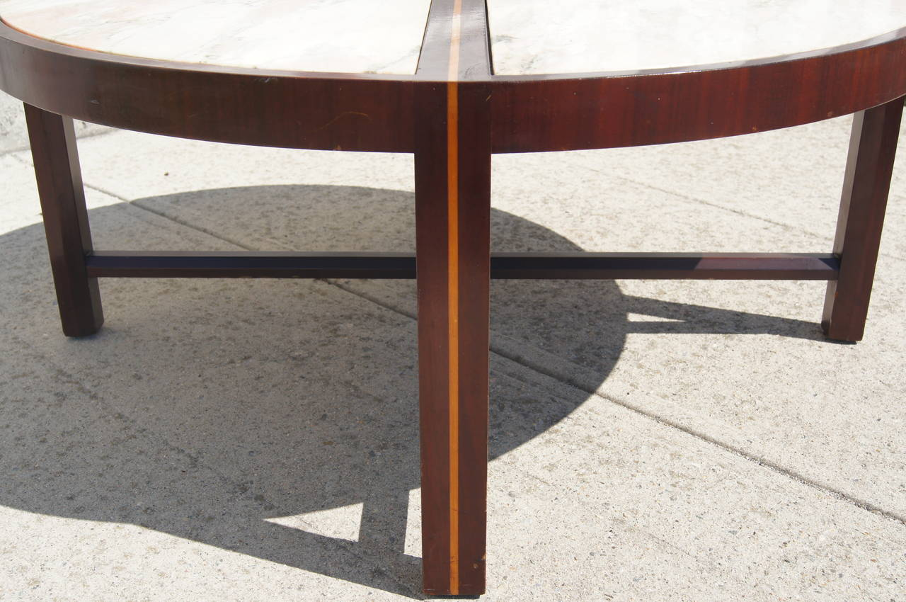 Inlaid marble coffee table by tommi parzinger for sale at 1stdibs inlaid marble coffee table by tommi parzinger 2 geotapseo Choice Image