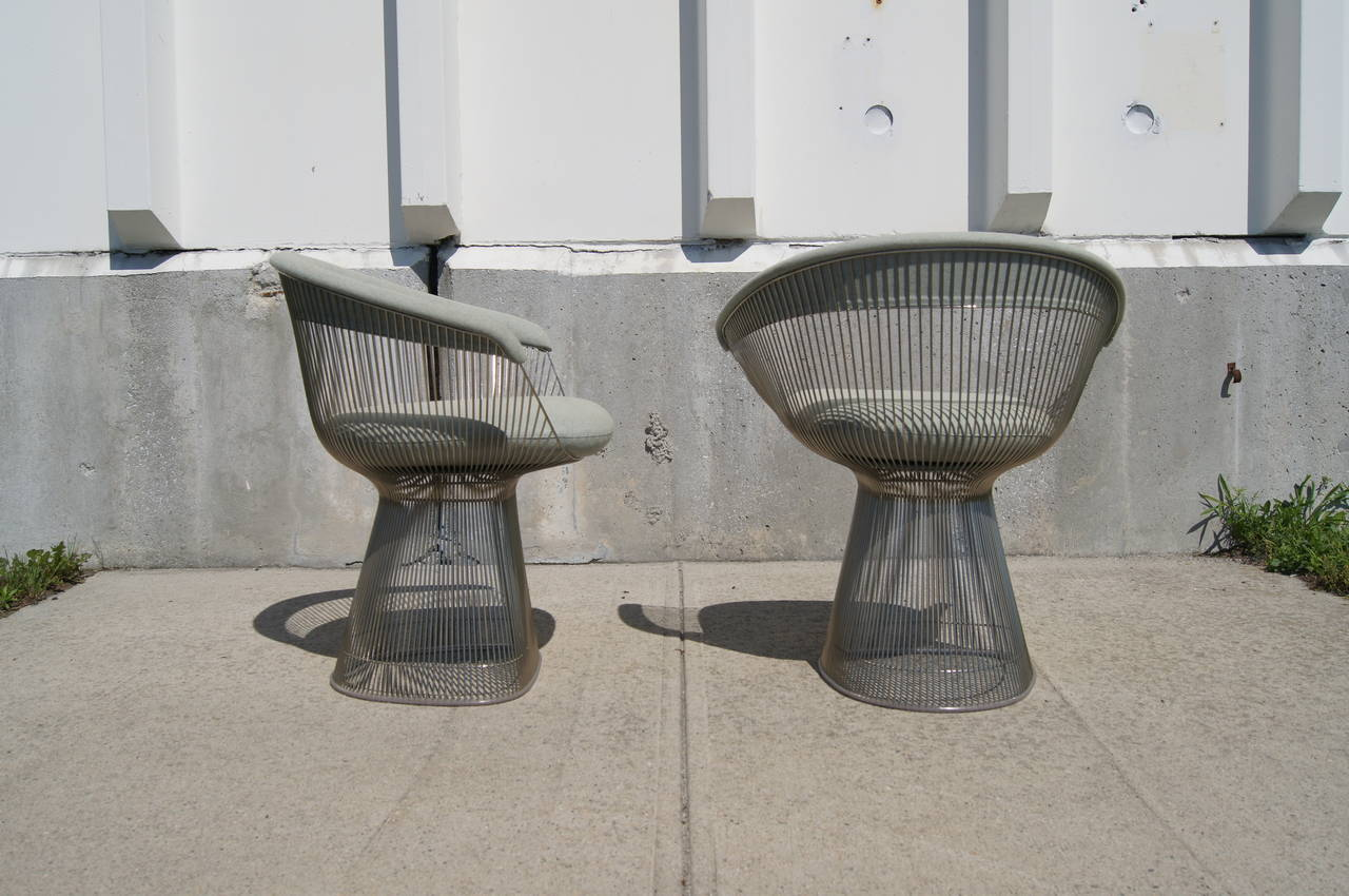 this pair of armchairs by warren platner for knoll is no longer