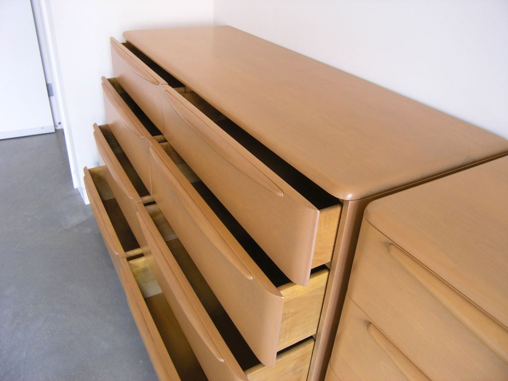 Pair Of Champagne Encore Double Dressers By Heywood