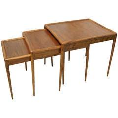 Set of Three Nesting Tables by T.H. Robsjohn-Gibbings for Widdicomb