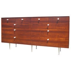 Early Thin Edge Ten-Drawer Rosewood Dresser by George Nelson for Herman Miller