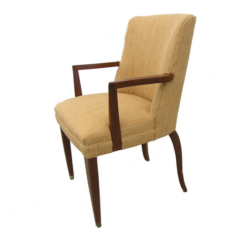 Mahogany Armchair by Edward Wormley for Dunbar