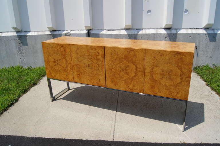 Modern Burlwood Sideboard by Milo Baughman for Thayer Coggin For Sale