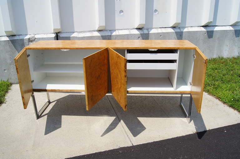 Late 20th Century Burlwood Sideboard by Milo Baughman for Thayer Coggin For Sale
