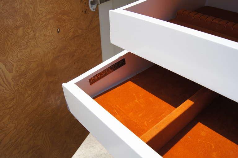 Burlwood Sideboard by Milo Baughman for Thayer Coggin For Sale 1
