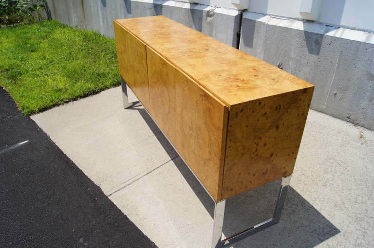 American Burlwood Sideboard by Milo Baughman for Thayer Coggin For Sale