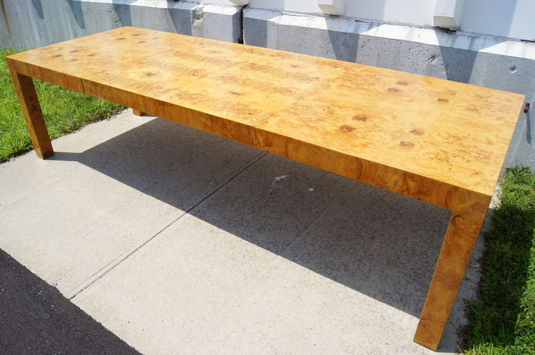 Burlwood Dining Table By Milo Baughman For Thayer Coggin 2