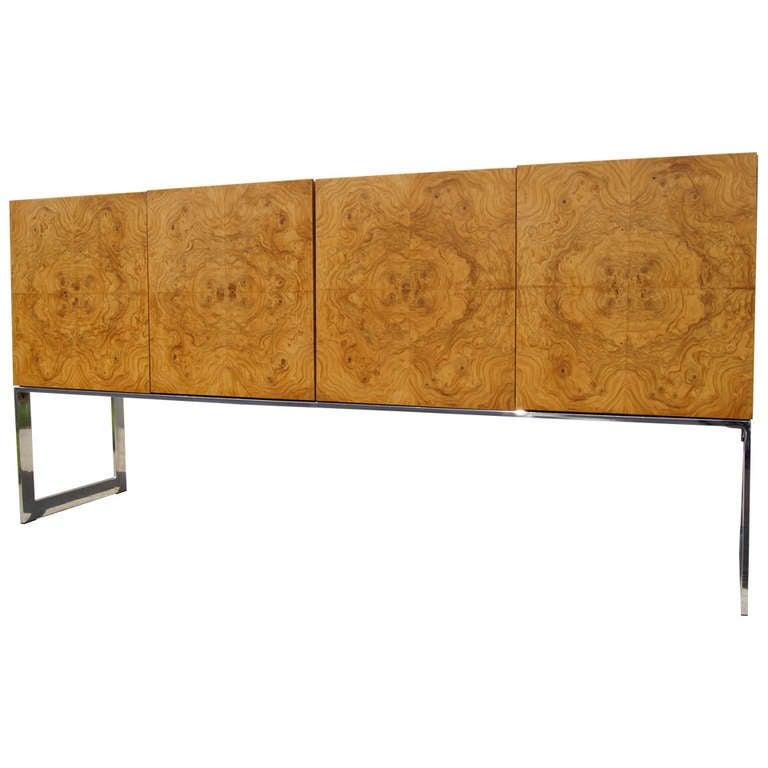 Burlwood Sideboard by Milo Baughman for Thayer Coggin For Sale
