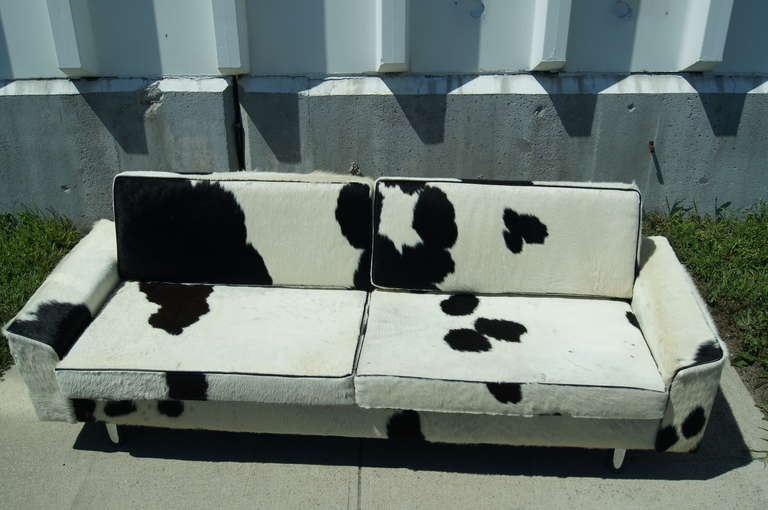 Danish Cowhide Sofa By Illums Bolighus For
