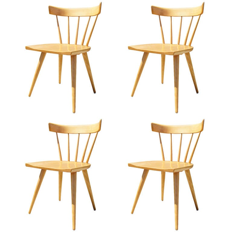 Set of Four Planner Group Dining Chairs by Paul McCobb for