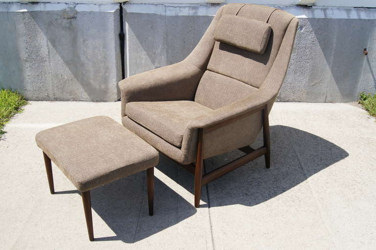 Armchair And Ottoman Attributed To Dux At 1stdibs