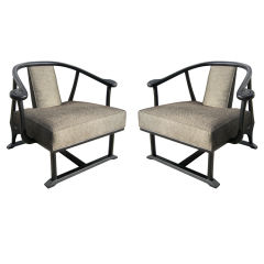 Pair of Asian Influenced Armchairs
