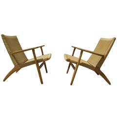 Pair of CH-25 Armchairs by Hans Wegner