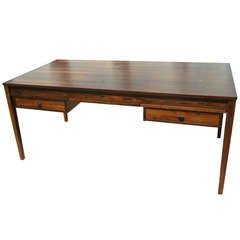 Danish Rosewood Desk with Extension Leaves