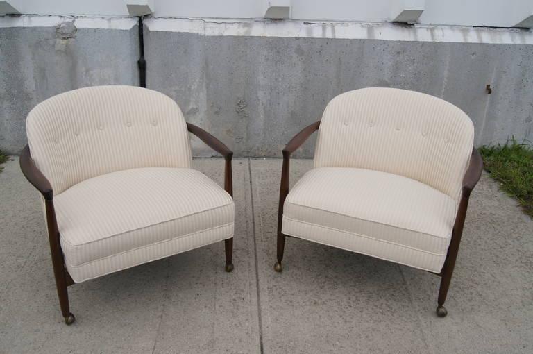 Mid-Century Modern Pair of Armchairs by Ib Kofod-Larsen