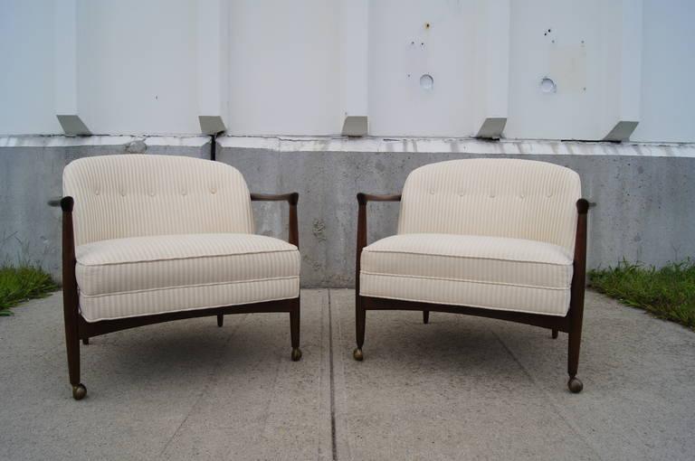 Danish Pair of Armchairs by Ib Kofod-Larsen
