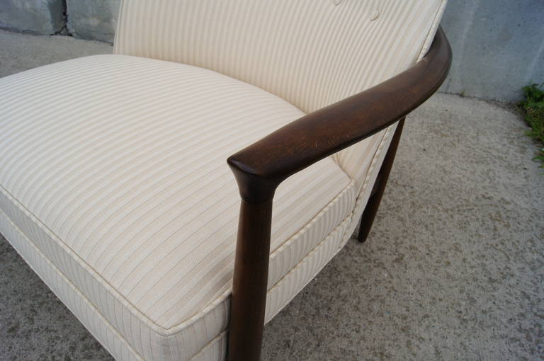 Pair of Armchairs by Ib Kofod-Larsen In Excellent Condition In Boston, MA