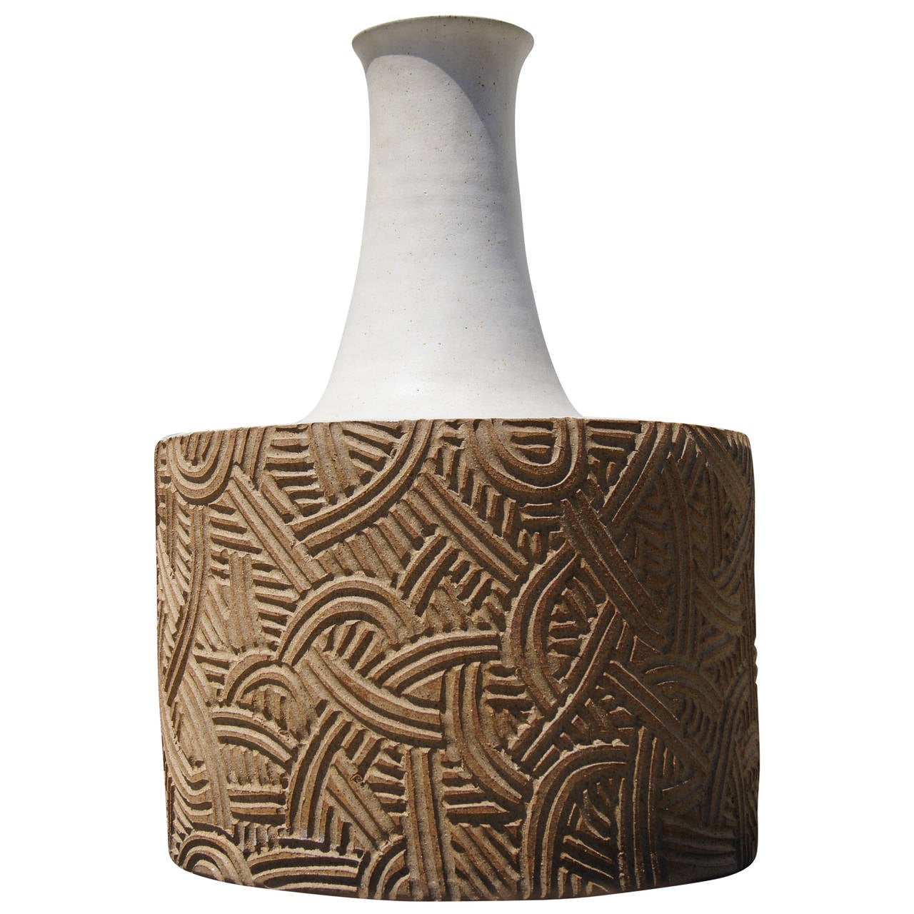 Large Stoneware Vessel by Bruno Gambone For Sale