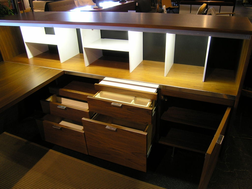 American L Shaped Desk And Credenza By George Nelson For Herman Miller