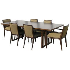 Dining Table with Six Chairs by T. H. Robsjohn-Gibbings for Widdicomb