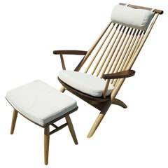 Lounge Chair and Ottoman by Tateishi Shoiji