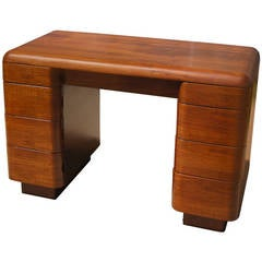 Bent Plywood Desk by Paul Goldman for Plymold