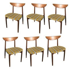 Set of Six Rosewood Dining Chairs by Harry Ostergaard