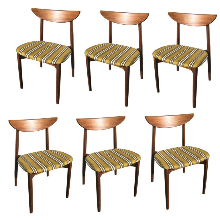 Set Of Six Rosewood Dining Chairs By Harry Ostergaard At 1stdibs