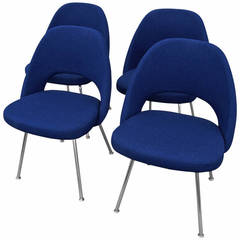 Set of Four Armless Dining Chairs by Saarinen for Knoll