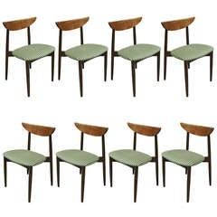 Set of Eight Rosewood Dining Chairs by Harry Ostergaard