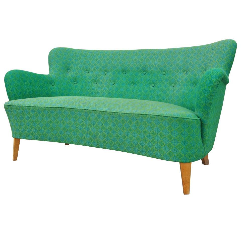 Small Scandinavian Modern Sofa by Carl Malmsten for O.H. Sjögren