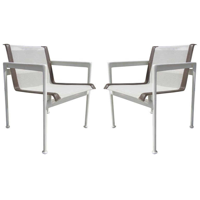 Pair Of Outdoor Dining Chairs By Richard Schultz For The