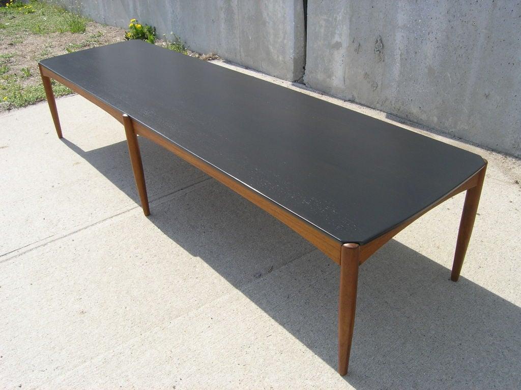Long Danish Ebonized Teak Coffee Table By Dux At 1stdibs