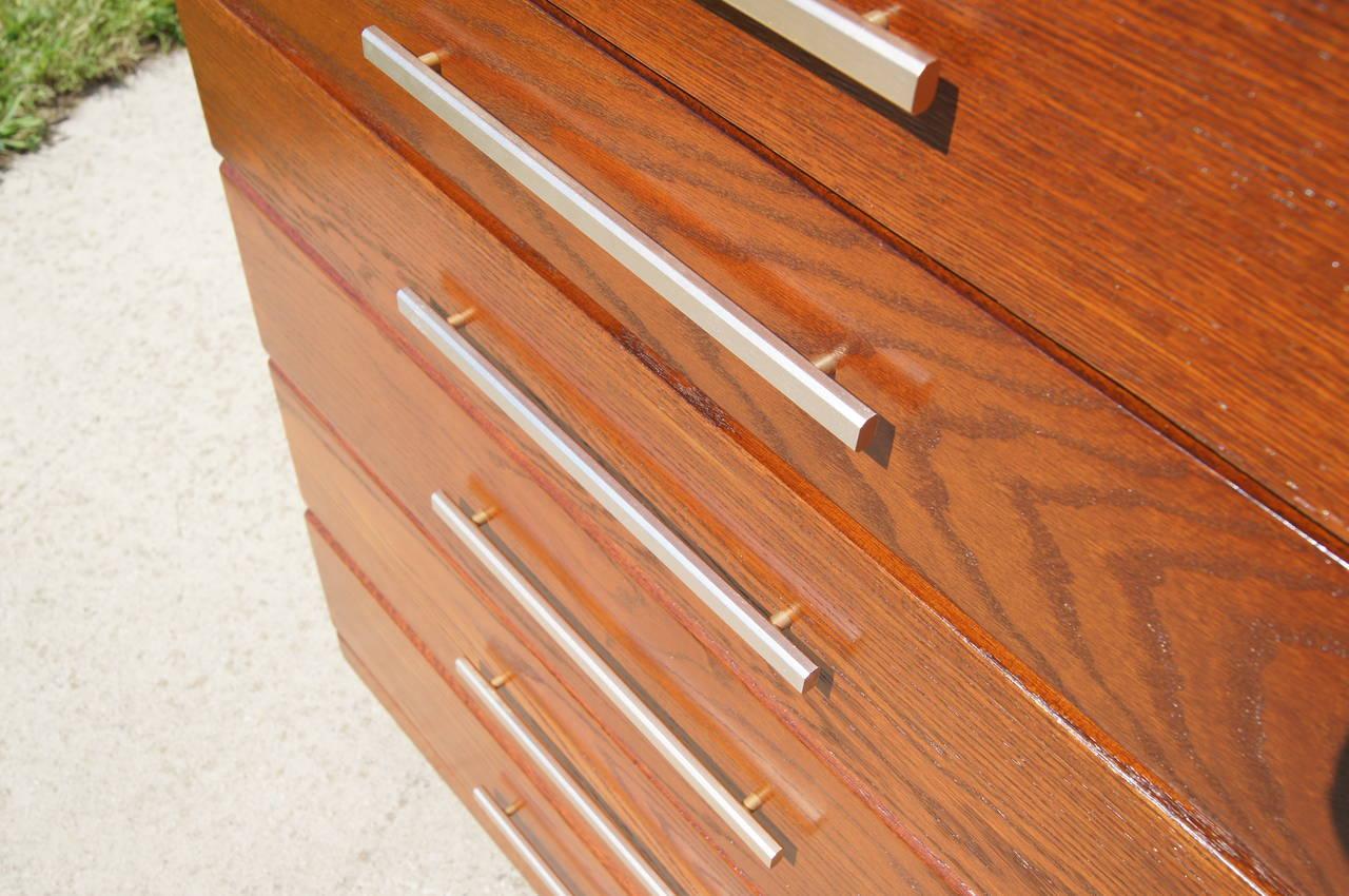 Mid-20th Century High Oak Dresser by Raymond Loewy for Mengel For Sale