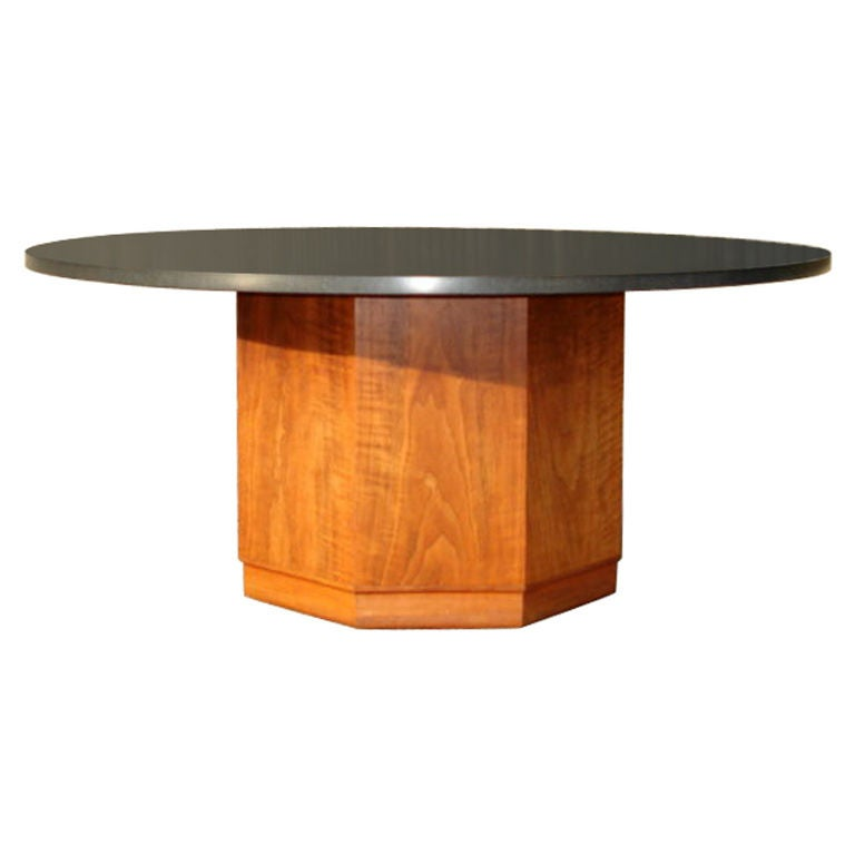 Slate And Walnut Coffee Cocktail Table By Fred Kemp At 1stdibs