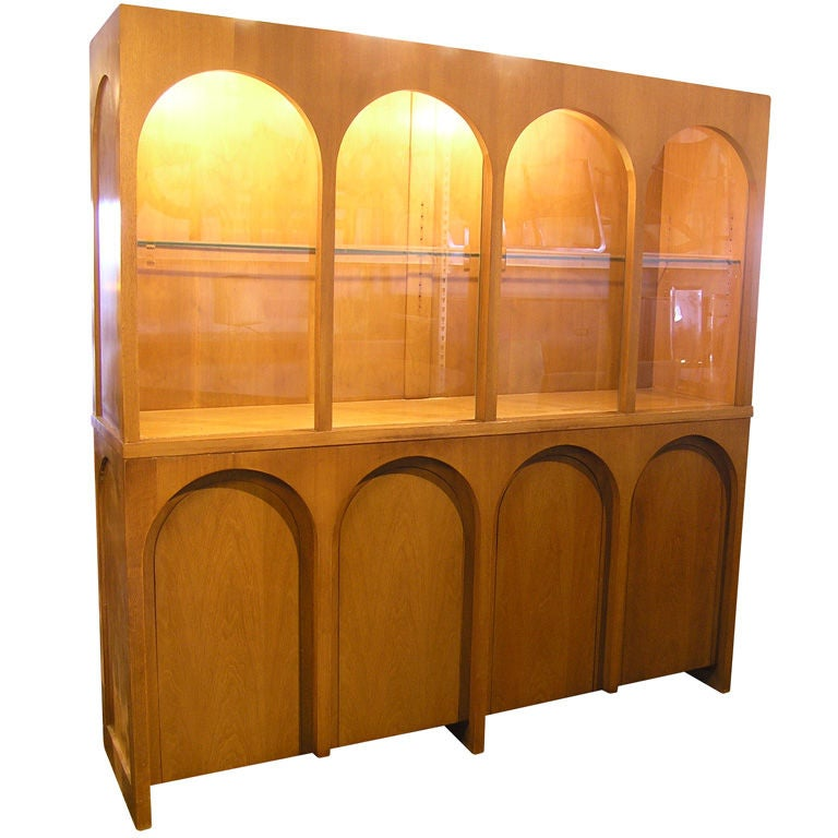 Glass front sideboard by t h robsjohn gibbings for for Sideboard glasfront