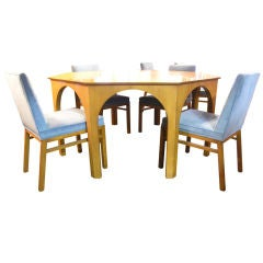 Dining Table and 6 Chairs by T.H Robsjohn-Gibbings for Widdicomb