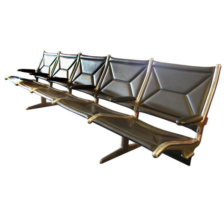 5 Seat Sling Airport Seating By Charles And Ray Eames At