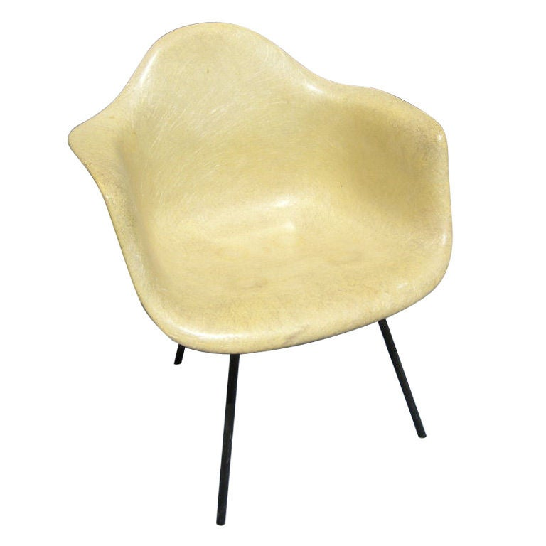 Early Rope-Edge Fiberglass Armchair by Charles Eames for Zenith/Herman Miller