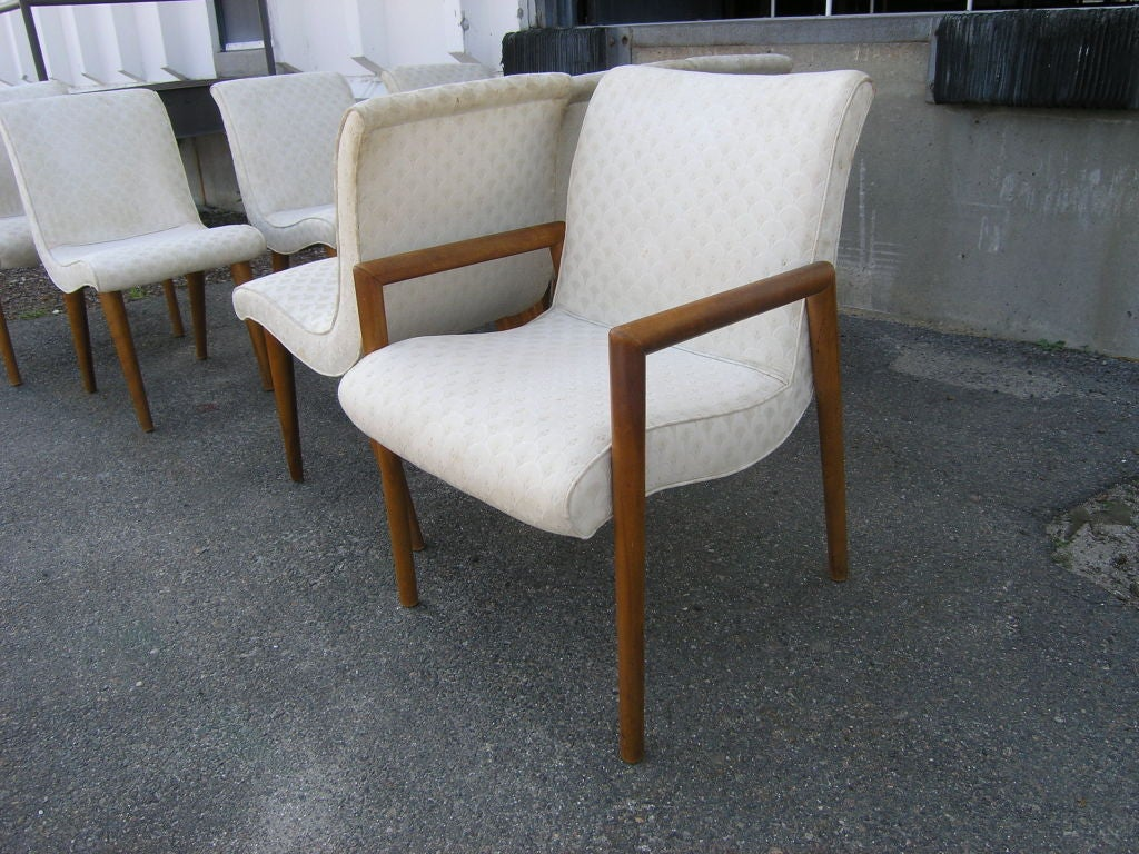 Set Of 8 Dining Chairs By Russel Wright For Conant Ball At