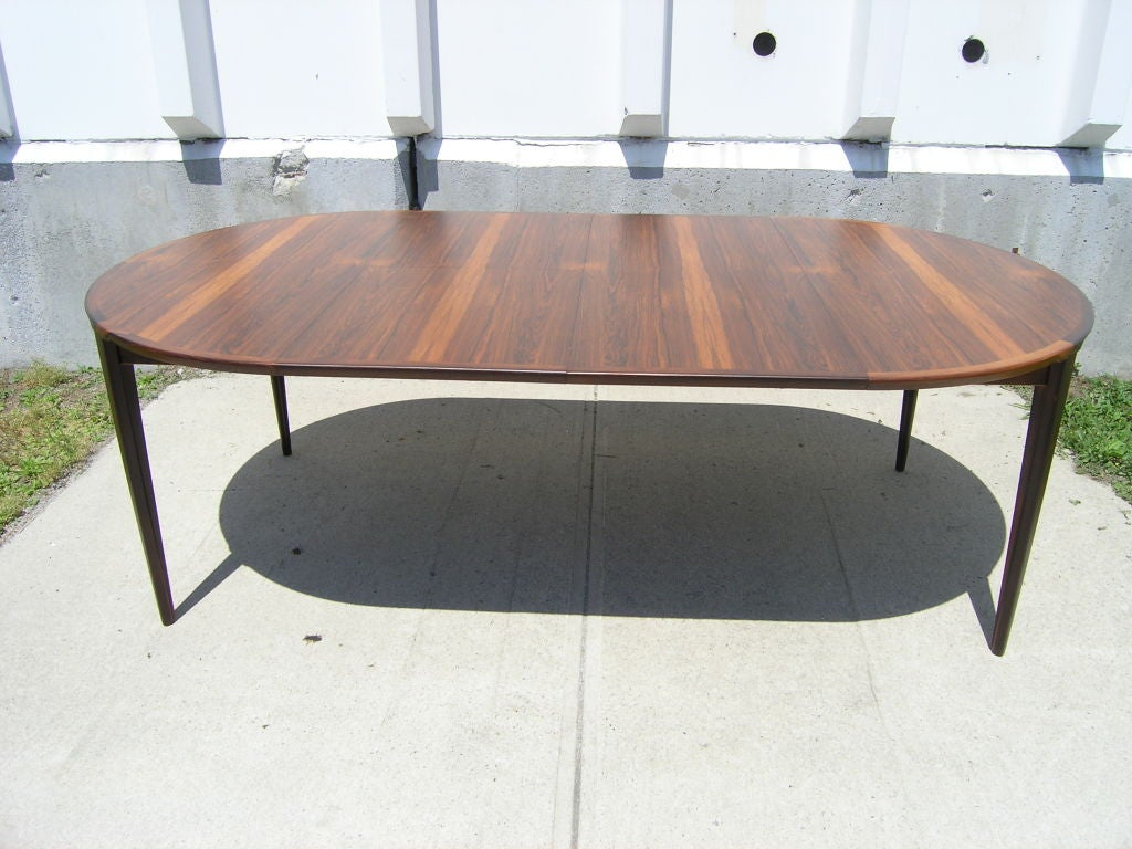 Rosewood Dining Table and 6 Chairs by Poul Hundevad image 10