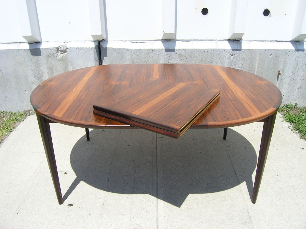Rosewood Dining Table and 6 Chairs by Poul Hundevad image 9