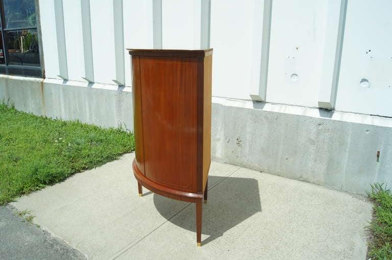 Swedish Cherry Corner Cabinet For Sale 4