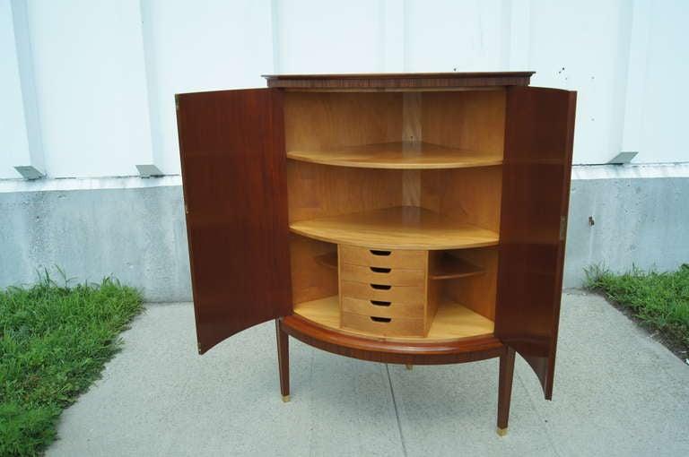 Swedish Cherry Corner Cabinet In Good Condition For Sale In Boston, MA