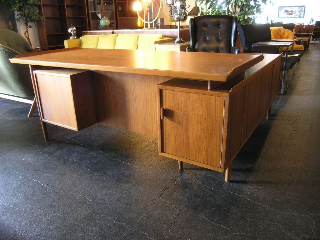 Danish L Shaped Desk And Credenza By Arne Vodder For Sibast