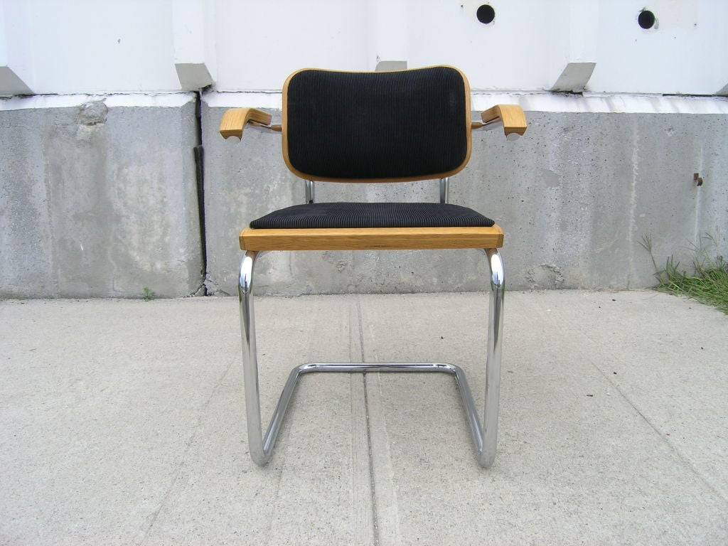 Set of Six Knoll Cesca Side Arm Chairs by Marcel Breuer 3